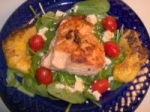 Grilled Salmon Spinach Salad picture