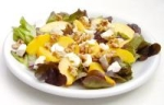 Red Leaf Lettuce With Peach and Fresh Chevre picture