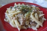 Penne Pasta With Mushroom Clam Sauce and Cheeses picture
