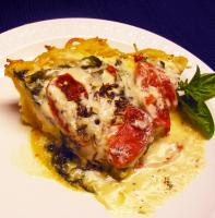 Spinach-Alfredo Pasta Pie picture