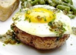Steak Hache Avec Oeufs a Cheval (Hamburgers W/ Eggs on Horseback picture
