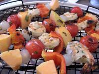 Shrimp, Cantaloupe  Kabobs picture