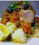 Fresh Tuna Steaks on a Bed of Couscous picture