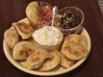 Pierogi Crostini, With Two Toppings picture