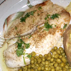 grilled halibut with cilantro garlic butter picture
