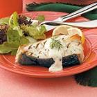 Grilled Halibut with Mustard Dill Sauce picture