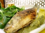 Roasted Sea Bass With Caper Sauce picture