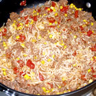 ground beef curly noodle picture