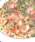 Low Fat Zesty Shrimp and Pasta picture