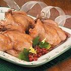 hens with apricot rice stuffing picture
