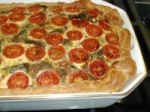 Tomato, Spinach and Spring Onion Pie picture