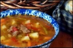 Beef Vegetable Garlic Soup picture