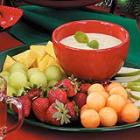 honey-lime fruit dip picture