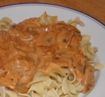 Mushrooms Paprikash With Egg Noodles picture