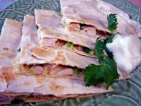 Low Fat Chicken and Avocado Quesadilla picture