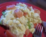 Fluffy Cheese and Tomato Scrambled Eggs picture