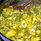 indian peas and cauliflower picture