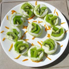 individual lime cheesecakes picture