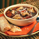 italian sausage soup with tortellini picture