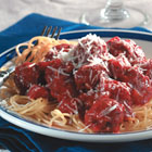 italian spaghetti sauce with meatballs picture