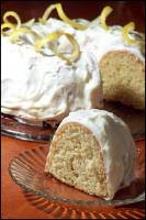 Luscious Lemon Bundt Cake W/Lemony Cream Cheese Frosting picture
