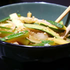 japanese zucchini and onions picture