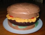 april fool's day cheeseburger cake picture