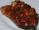 Baked Salmon With Black Olive Salsa picture