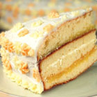 Lemon Cake with Lemon Filling and Lemon Butter Frosting picture
