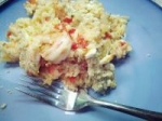 Greek Rice and Shrimp Bake With Feta Crumb Topping picture
