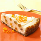 Light Citrus Cheesecake with Raisin-Nut Crust picture