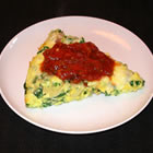 Light Spinach Frittata with Tomato Salsa picture