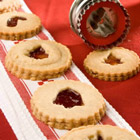 linzer torte cookies picture