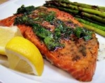 Grilled Cedar Plank Salmon With Lemon-Dill Topping picture
