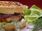 salmon burgers with dill tartar sauce picture