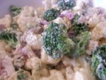 Broccoli, Cauliflower & Blue Cheese Salad picture