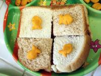 Goldfish Checkerboard Sandwiches picture