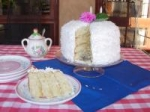 Coconut Layer Cake With Lemon Filling and Marshmallow-Like Frost picture