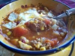 Taco Soup With Beans and Baked Tortillas picture