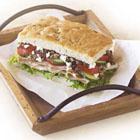 Mediterranean Style Turkey Focaccia Sandwiches picture