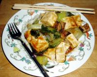 Steamed Vegetables With Tofu and Oyster Flavored Sauce picture