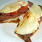 Open-Faced Broiled Roast Beef Sandwich picture