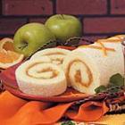 orange sponge cake roll picture