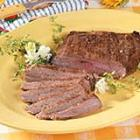 peppered flank steak picture