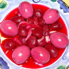 pickled red beet eggs picture