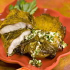 Red Snapper in Grape Leaves with Garlic and Caper butter picture