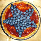 Red, White, and Blueberry Cheesecake Pie picture
