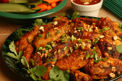 garlic chili pepper chicken wings picture