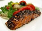 pepper crusted maple glazed salmon picture