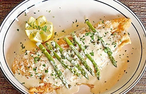 grouper with beer lemon sauce picture